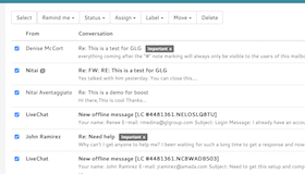 Manage emails in bulk