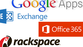Google Apps, Outlook 365, Rackspace and more are fully supported
