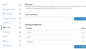 Helpmonks ip address restrictions