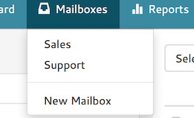 Helpmonks supports multiple mailboxes