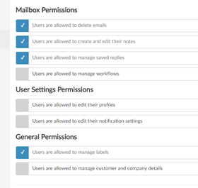 Apply permissions for mailboxes