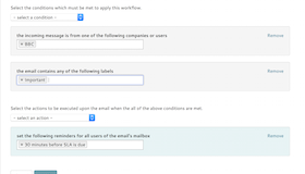 Automate email conversations with workflow