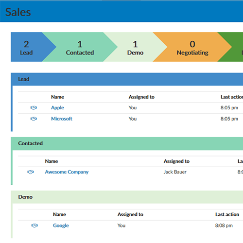 Use the Helpmonks CRM tool to collaborate on deals. Everything you need to win the deal is hiding in your shared inbox